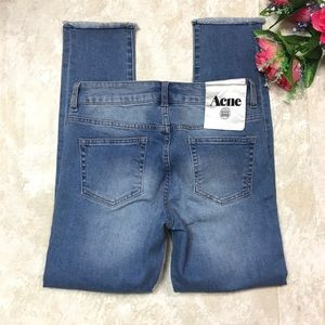 ACNE STUDIOS THE SKINNY 5 POCKETS DISTRESSED JEANS